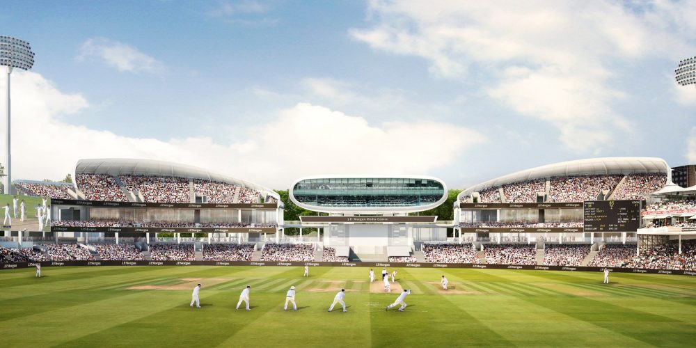 The new stands at Lords Cricket Ground